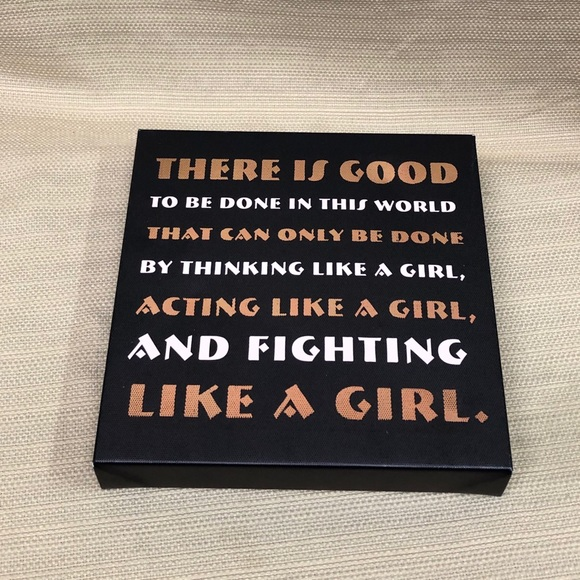 Hallmark LIKE A GIRL Empowerment Small Canvas NWT